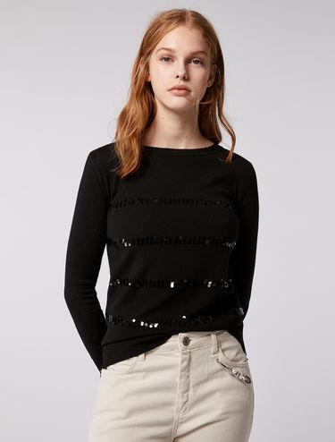 Jersey de lana con lentejuelas