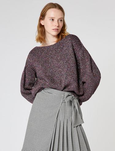 Lamé-Pullover im Oversize