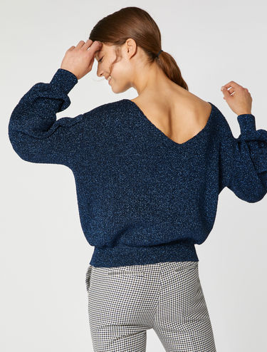 Oversized lamé sweater