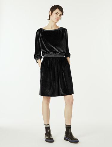 ポケット ベルベットドレス
