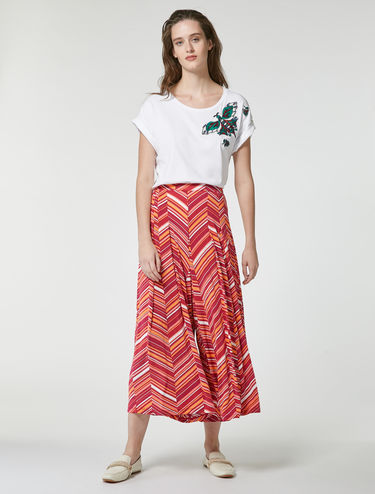 Palazzo trousers with flowing pleats