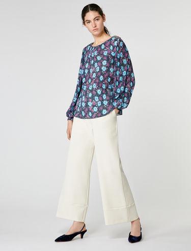 Blusa in jersey plissé