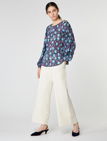 Blusa de jersey plisado