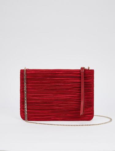 Pleated satin mini bag