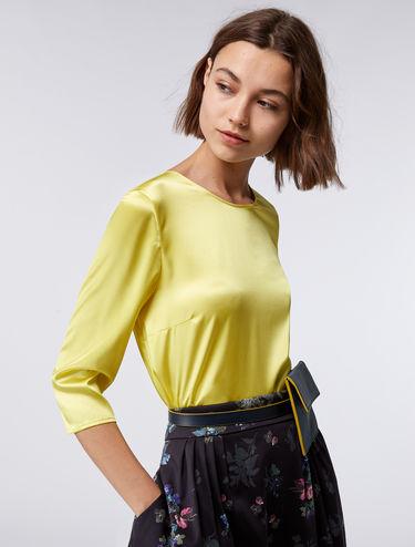 Blusa de raso de seda