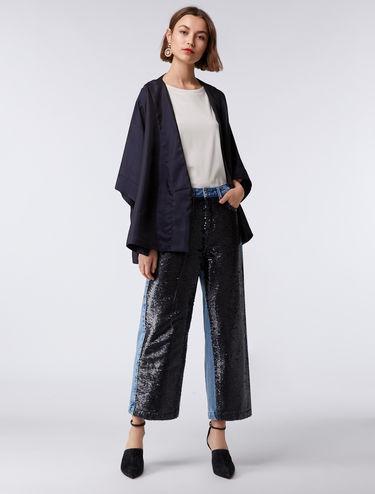 Sequin panel jeans