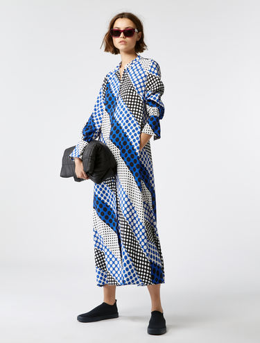 Maxi shirt dress with flared cuffs