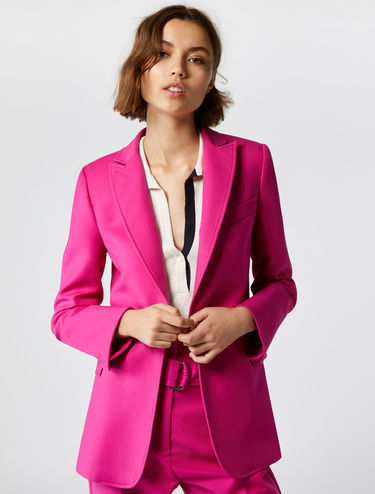 Blazer in cotone stretch