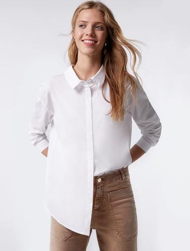 Camisa de popelina con lazada