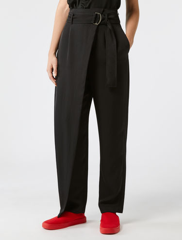 Tapered sarong trousers