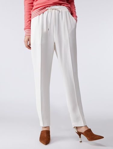 Jogger-style twill trousers