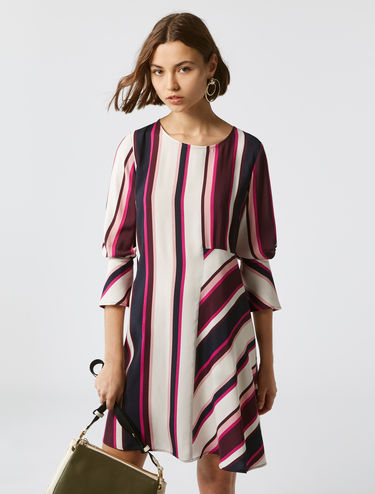 Striped loose-fit dress