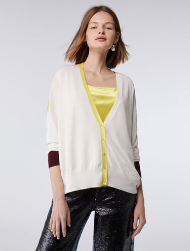 V-neck cocoon cardigan