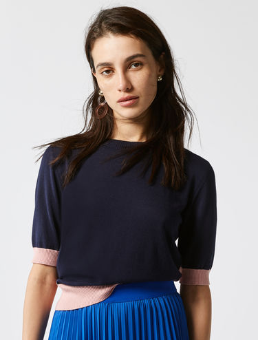 Fitted silk-cotton sweater