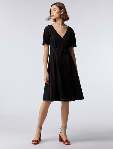 Flared jersey dress