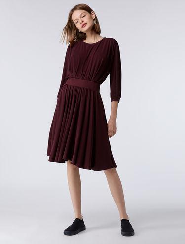 Jersey batwing dress