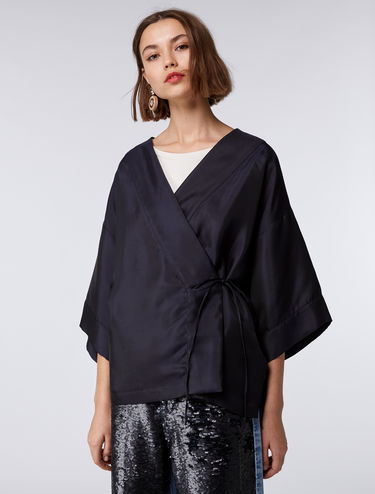 Jacquard kimono jacket