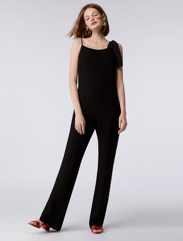 Strappy bow-detail jumpsuit