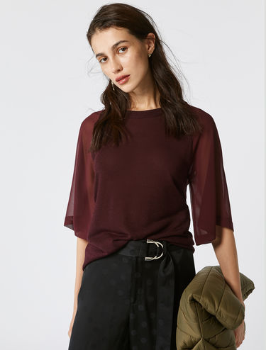 Sheer-effect top