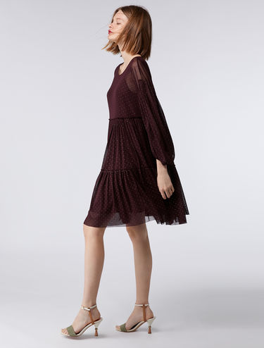 Floaty tulle dress with micro polka dots