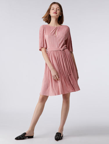 Micro-pleated jersey dress