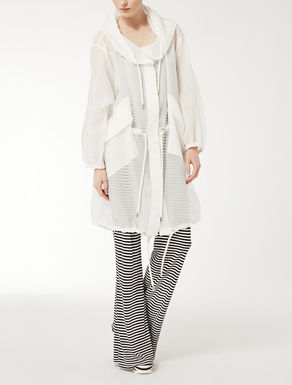 Silk and nylon organza parka