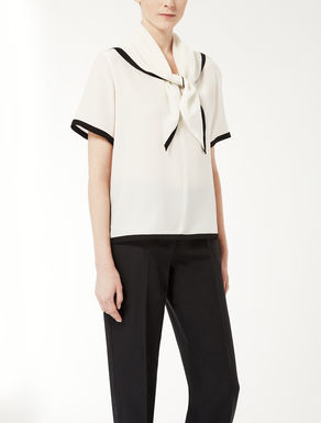 Silk crêpe de chine knit shirt