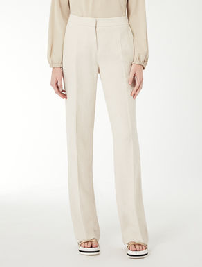 Linen basketweave trousers