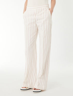 Jacquard cotton trousers