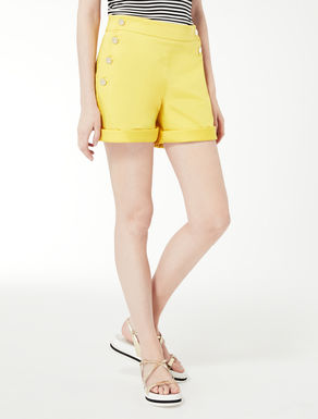 Satin weave cotton Bermuda shorts