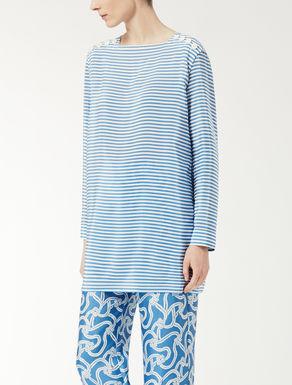 Silk crêpe de chine knit shirt