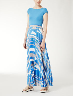 Pleated crêpe de chine dress