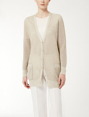 Viscose yarn knit cardigan