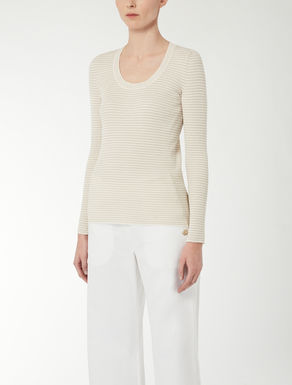 Cotton yarn knit top