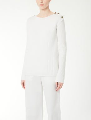 Cotton cordonnet knit pullover
