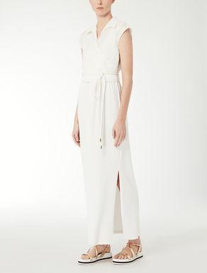 Linen and jersey dress