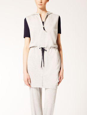 Gilet in double viscose jersey