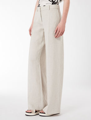 Oversize linen trousers
