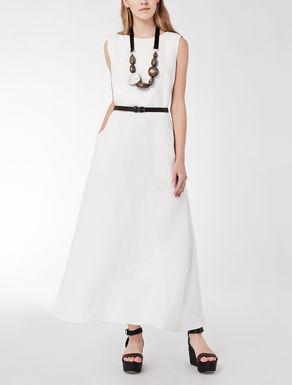 Long dress in délavé linen