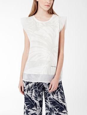 Jersey and organza T-shirt
