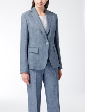 Ramie and linen twill jacket