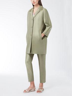 Manteau en shantung de soie