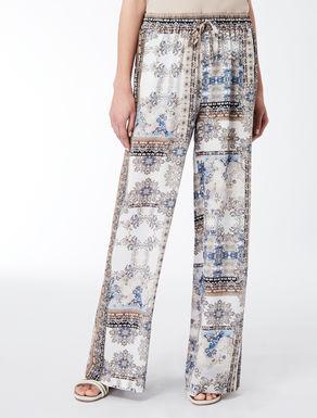 Pantalon en crêpe de Chine