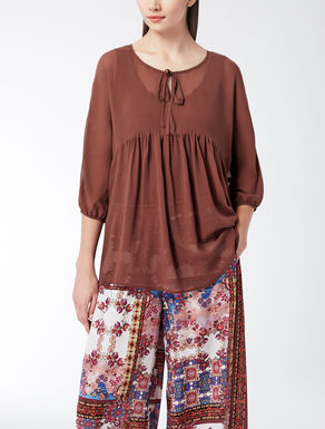 Silk georgette knit shirt