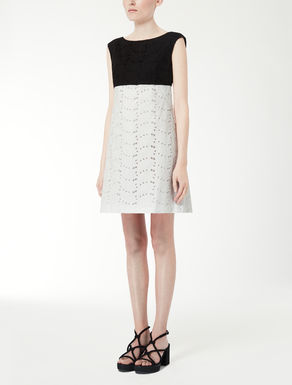 Cotton eyelet fabric dress