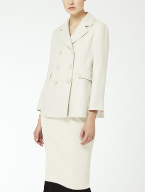 Linen and cotton basketweave jacket