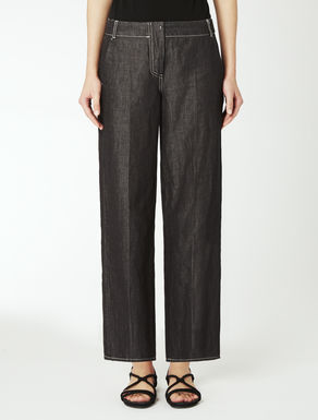 Pantaloni in denim di cotone