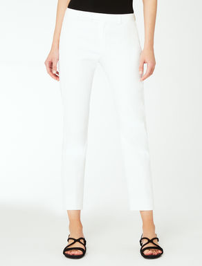 Cotton and nylon trousers