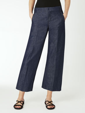 Cotton denim trousers
