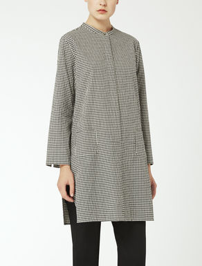 Cotton canvas tunic shirt